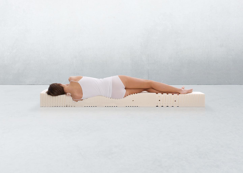 de innergeticmatras is een latex matras die ergonomisch is